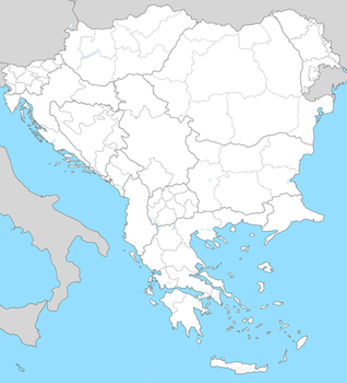 blank map Balkan-extended by WolfGrid