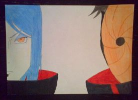 Konan vs Tobi coloured by katy181