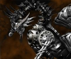 metal dragon 2 by Robot-drawing-club
