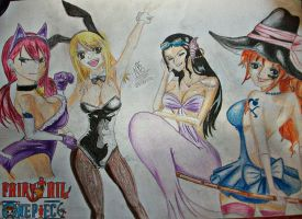 Fairy Tail And One Piece by nivilax