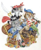 Pawrates of the Carribean Cats by bigcatdesigns
