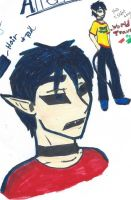 ref sheet un named male alien protagonist by articfoxice