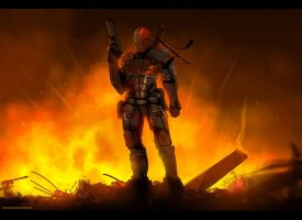 Deathstroke speed paint by TheFearMaster