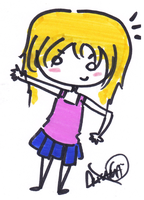 Chibi Girl Blonde Hair by Mina-Chu