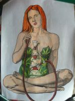 cannabis marihuana girl by golhom