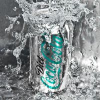 diet coca cola cyan by SaphoPhotographics