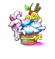Bath in cupcake by smartMeggie