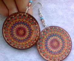 Mandala Crochet Earrings by Eibhlin-san
