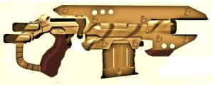African Steampunk Heavy Pistol Concept by LandgraveCustoms