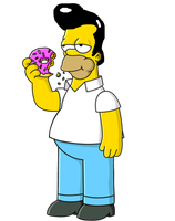 Homer Simpson with Elvis Presley's Hair by darthraner83