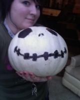 my jack skellington pumpkin by xjennxox