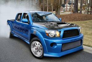Toyota Tacoma 666BHP drag car by WSWhiteStripe