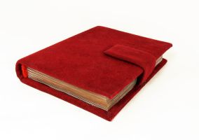 Red notebook by Katlinegrey
