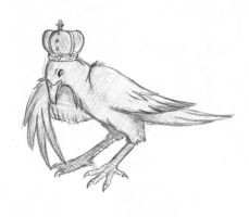 Doodle: King Crow by thecruelseasons