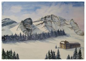 House in mountains by solgas