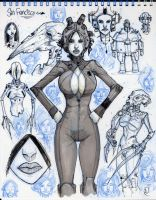 Page from my S.F. Sketchbook by Axel13-Gallery