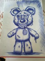 the horrible teddy by smurfpunk