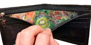 Hyrule map inside wallets by Bubblypies