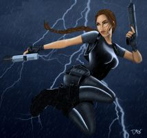 Lara Croft by DiamonikaDunsonArt