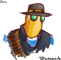 Heavy the birdhead detective by Nastenka202