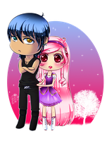 Chibi Adam and Chloe by Yettyen