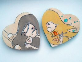 Tea and Sushi Fridge Magnets by Orenji-art