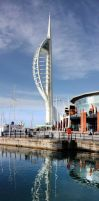 Spinnaker Tower from the canal by Abylone