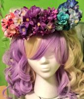 Bi Pride Flower Crown *FOR SALE* by princess-haru44