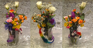 Dragon Vase With Flowers by Alexandrite-Dragons