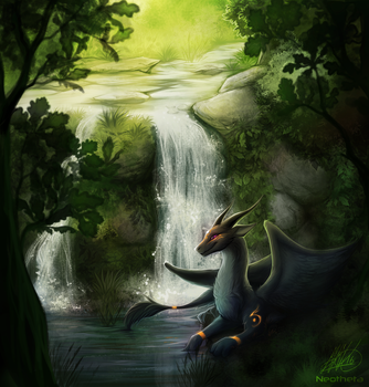 Dragon Falls by Neotheta