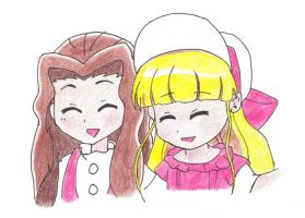 Young Eponine and Cosette by EponineMarius