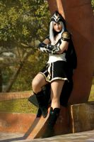 Ashe Cosplay - taking a rest by Eressea-sama