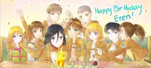 Happy birthday Eren!!! :D by Risocaa