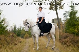 Horse and Rider Stock by Colourize-Stock
