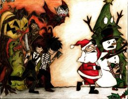 Creature Feature: Halloween Vs Christmas by LookAliveZombie