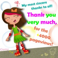 Thanks for 4000 pageviews by Ciomy