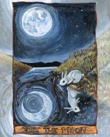 The Moon Tarot Card by sobeyondthis