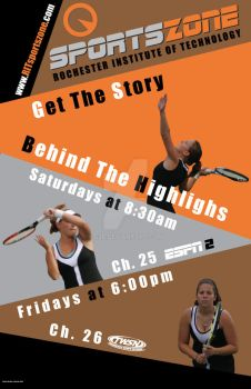 Sports Zone Poster by G2B