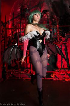 Take Flight - Morrigan Aensland Cosplay by HezaChan