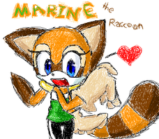Marine the Raccoon - MS Paint by Amaranth-Pink