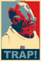 It's a Trap obama poster by LuisRatedRKO