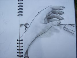charcoal hand by urnamehere45
