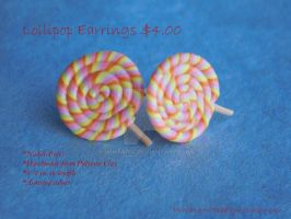 Lollipop Stud Earrings by Wintaria
