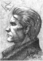 Wesker Portrait in profile by pavel-bulgakov