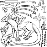 European Dragon Adoptable / Reference Lines by DimensionXXIV