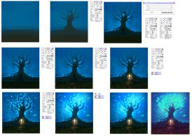 Magic Tree step by step - tutorial by ryky