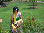 Yuffie's Flower Power by GryffinsFate