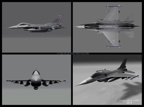 F16 Fighting Falcon All views by Deejayqt