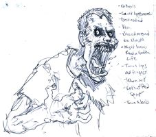 Zombie Concept Drawing by FWACATA