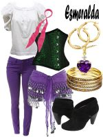 Disney Fashion: Esmeralda (Gypsy) by EvilMay